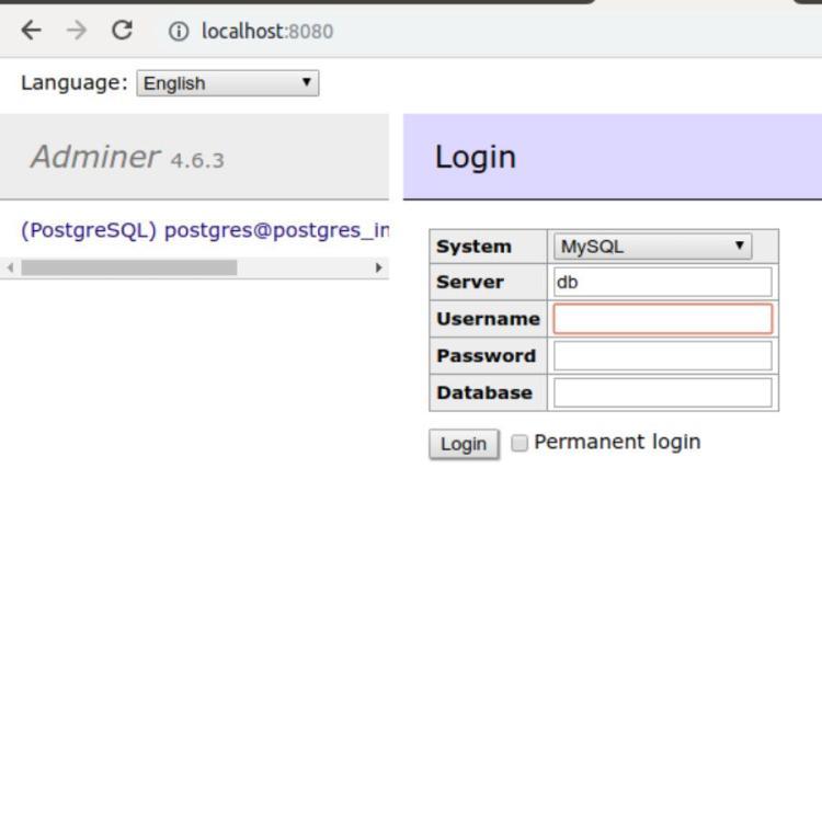 adminer-manage-postgres-db