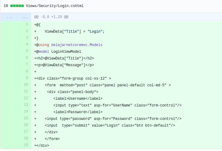 login.cshtml menggunakan razor tag helper